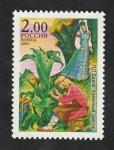 de Europa - Rusia -  6775 - 125 Anivº del nacimiento del escritor Pavel P. Bazhov, La Flor de piedra