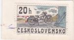 Sellos del Mundo : Europa : Checoslovaquia :  MOTOCICLETA- CZ 150- STRAKONICE