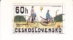 Sellos del Mundo : Europa : Checoslovaquia :  BICICLETAS 1886