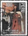 sello : America : Perú : Santa Teresa de Jesus