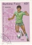 Stamps Burkina Faso -  CAMPEONATO MUNDIAL MEXICO'86
