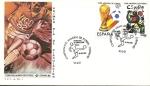 Stamps Spain -  Mundial de Fùtbol España 82 - cartel anunciador - Vigo SPD