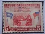 de America - Honduras -  Conmemorativa del  CL Aniversario del Nacimiento de Lincoln-150 Años del Nacimiento de Lincoln (1809