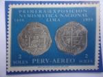 de America - Perú -  Primera Exposición Numismática Nacional -Lima1659-1959 - Tercer centanario de la Primera moneda Peru