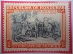 de America - Honduras -  V Centenario Isabel la Católica-500 Años del Nacimiento de Isabel I de Castilla (1451-1951)-Descub