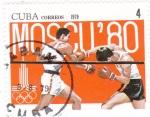 Sellos del Mundo : America : Cuba : BOXEO- OLIMPIADA MOSCÚ'80
