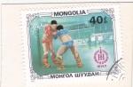 Sellos del Mundo : Asia : Mongolia : LUCHA LIBRE