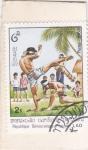 de Asia - Laos -  Técnicas de artes marciales laos