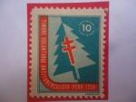 de America - Perú -  Timbre voluntario -Campaña Antituberculoso - Perú 1958.
