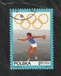 sello : Europa : Polonia : 1762 - 50 Anivº del Comité olímpico polaco, Lanzamiento de disco