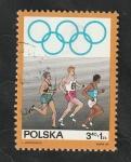 sello : Europa : Polonia : 1763 - 50 Anivº del Comité olímpico polaco, Carrera a pie
