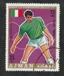 de Asia - Emiratos Árabes Unidos -  71 - Campeonato mundial de fútbol en Mexico, Pietro Anastasi (Italia)