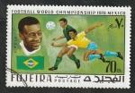 de Asia - Emiratos Árabes Unidos -  104 - Mundial de fútbol en Mexico, Pelé