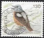 sello : Europa : Suiza : 2008 - roquero rojo (Monticola saxatilis) A