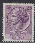 Sellos del Mundo : Europa : Italia : 1958 - Moneda de Siracusa