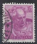 Sellos del Mundo : Europa : Italia : 1961 - Cap de profeta Joel