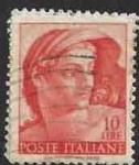 Sellos del Mundo : Europa : Italia : 1961 - Head of naked