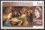 Stamps : Europe : United_Kingdom :  Navidad 1968