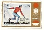 Sellos de Asia - Emiratos Árabes Unidos -  Fujeira. JJOO Sapporo 72. Medalla de oro patinaje masculino sobre hielo  Holanda. Ard Schenk