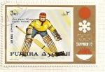 Sellos de Asia - Emiratos Árabes Unidos -  Fujeira. JJOO Sapporo 72. Medalla de oro. Hockey sobre hielo. Equipo de Rusia.