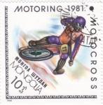 Stamps Mongolia -  MOTORING 1981 motocross