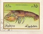 Stamps : Asia : United_Arab_Emirates :  Fujeira. Criaturas marinas. Homarus Gammarus.