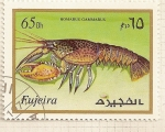 Sellos del Mundo : Asia : Emiratos_Árabes_Unidos : Fujeira. Criaturas marinas. Homarus Gammarus.