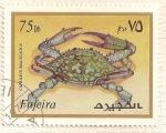 Stamps : Asia : United_Arab_Emirates :  Fujeira. Criaturas marinas. Caprilius Maculatus.