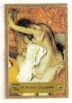 Sellos del Mundo : Asia : Emiratos_Árabes_Unidos : Fujeira. Pintura de Degas. Despues del baño. 1890.