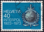Stamps : Europe : Switzerland :  Interpol
