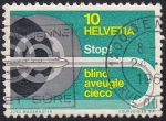 Stamps Switzerland -  Stop! Ciego