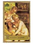 Sellos del Mundo : Asia : Emiratos_Árabes_Unidos : Fujeira. Pintura de Tiziano. Diana y Actenea.