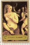 Sellos del Mundo : Asia : Emiratos_Árabes_Unidos : Fujeira. Pintura de Tiziano. Venus con espejo.