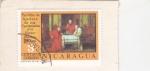 Stamps Nicaragua -  PARTIDA DE AJEDREZ DE LOS CARDENALES