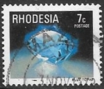 Stamps : Africa : Zimbabwe :  Minerales. Rhodesia.