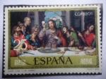 Stamps Spain -  Ed:2541-Santa Cena-Oleo del español:Vicente Juan Macip (1507/79) o Juan de Juanes.