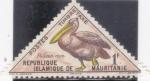Stamps : Africa : Mauritania :  PELÍCANO ROSA