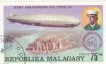 Stamps : Africa : Madagascar :  75 ANIVERSARIO ZEPPELIN