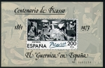 Stamps of the world : Spain :  Centenario de Picasso