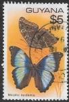 Stamps Guyana -  mariposas