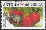 Stamps Antigua and Barbuda -  mariposas