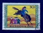 Stamps Mongolia -  niño a caballo