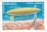 Stamps : Europe : Romania :  ZEPPELIN SOBREVOLANDO PARÍS