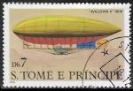 Sellos de Africa - Santo Tomé y Principe -  Dirigibles - Willows II, 1909