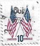 Sellos de America - Estados Unidos -  Banderas cruzadas, de 50 y de 13 estrellas