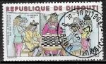Sellos del Mundo : Africa : Djibouti : Juego  de Ajedrez - Florence 1493