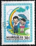 Sellos del Mundo : Asia : Mongolia : Dia Internacional del niño 1979 - Dibujos