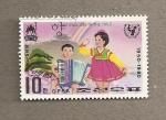 Sellos de Asia - Corea del norte -  Día internacional del niño