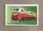Stamps North Korea -  Locomotora