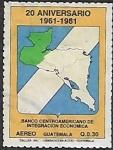 Sellos del Mundo : America : Guatemala : 20 aniversario del Banco Centroamericano de Integración Económica, 1961-1981